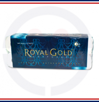 'Royal Gold' Corporate Toilet Roll (10x10) 2-Ply, 220 shts